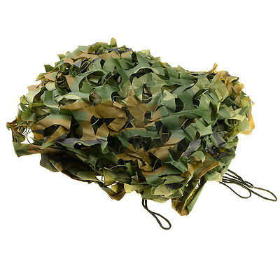 2*3m Outdoor Military Camouflage Sun Shelter  Camping Woodland  Camo  Tarp  T...