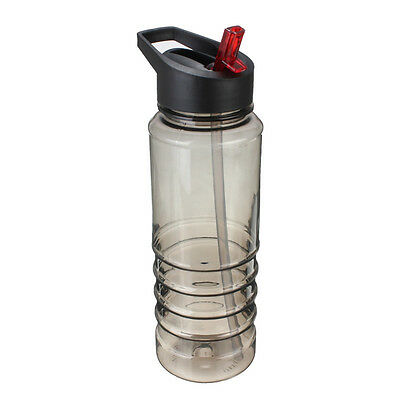 700ml Outdoor Sports Water Bottle Straw  Hiking Camping