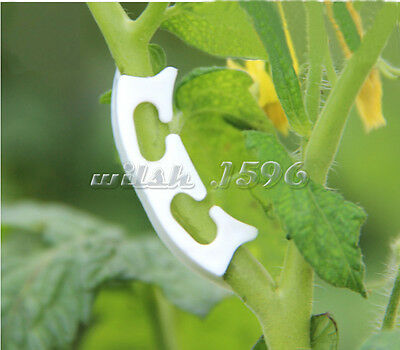 100pcs Tomato Clamps Convenient Fixing Fastening Clips Gardening Farming Fixture