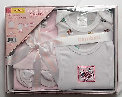 Bambini Fashioned 5 Piece Gift Set For Babies 100% Cotton