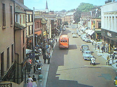 MIDDLEGATE PENRITH busy shopping street postcard c1960s Cumbria