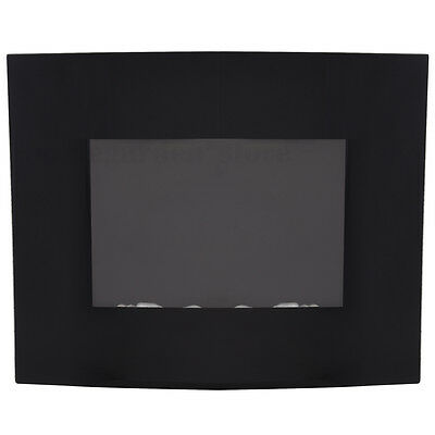 Led Backlit Curved Glass Electric Wall Mounted Fire Place Heater 1800W UK STOCK