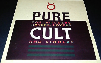"""Pure Cult """"for Rockers, Ravers, Lovers And Sinners"""" Lp Vinyl X 2    Uk Edition"""