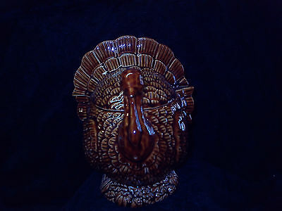 Brown Ceramic Turkey candy dish