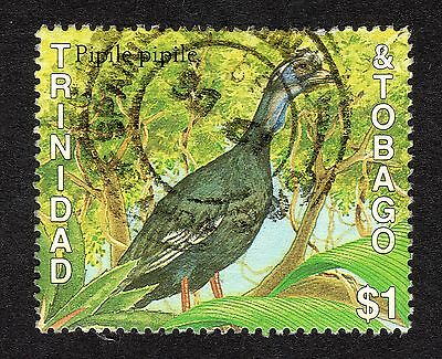 1989 Trinidad & Tobago $1 Piping Guan SG 757 FINE Used R18348