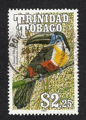 1990 Trinidad & Tobago $2.25 Channel Billed Toucan SG 793 GOOD Used R18179