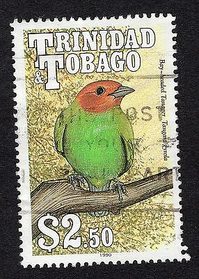 1990 Trinidad & Tobago $2.50 Bay Headed Tanager SG 843 FINE Used R18184