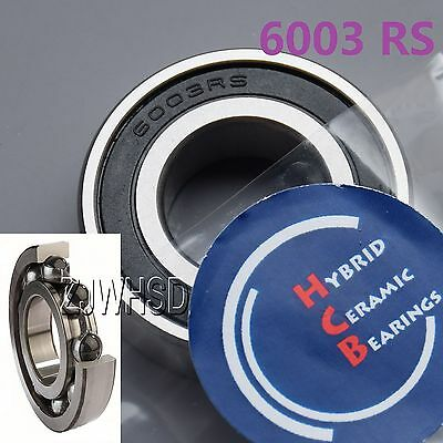 6003 2RS Si3N4 Hybrid Ceramic Ball Bearing Rubber Sealed 17 x 35 x 10mm