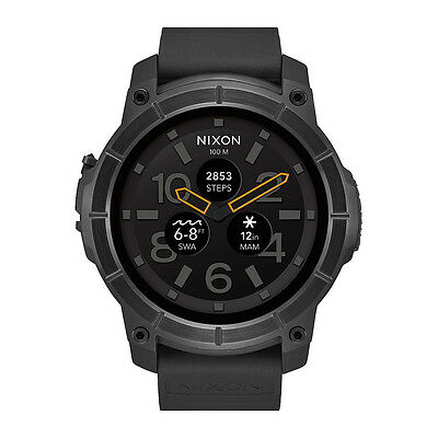 Nixon Mission Android Wear Smart Watch All Black