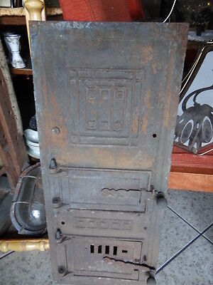 Cast iron fire door clay / bread oven / pizza stove / smoker plain- tall 2 doors