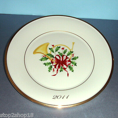 Lenox Annual Holiday French Horn Accent Collector Plate 2011 Limited Edition New