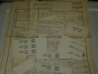Zaccaria Moon Flight Pinball Machine Schematics & Score Cards