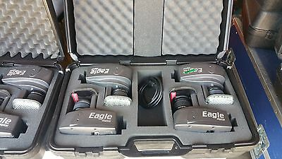 (4) Motion Analysis Eagle Digital Real Time IR Motion Camera EGL-500RT w/case