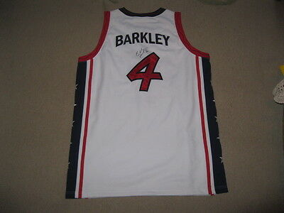 Charles Barkley Autographed Jersey Dream Team Nike XL JSA Auction Certified