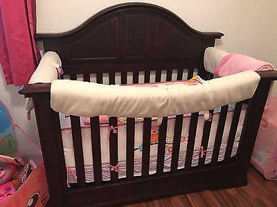 Nursery set Crib, Double Dresser, Nightstand, Changing Table and Crib Conversion