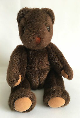 Ty 1990 Classic Plush #5101 Beanie Bear Dark Brown Teddy Retired Korea