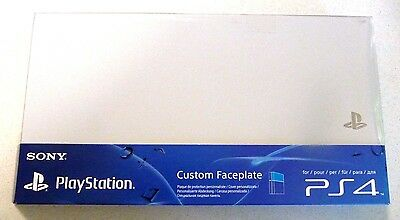 Ps4 Playstation 4 Custom Faceplate - Glacier White - Brand New & Sealed.