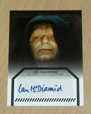 2013 Topps Star Wars Galactic Files autograph Ian McDiarmid as EMPEROR PALPATINE
