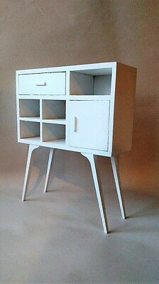 Economy Priced 1:6 Scale Furniture for Fashion Dolls 4261W Mid Century Cabinet