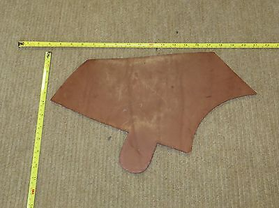 BROWN VEG TAN BUTT LEATHER  OFF CUT 5 mm THICK EX KINGS TROOP SADDLE LEATHER