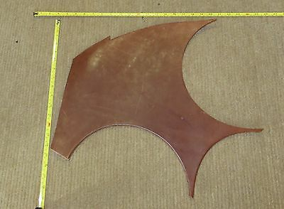 BROWN VEG TAN BUTT LEATHER  OFF CUT 6 -7 mm THICK EX KINGS TROOP SADDLE LEATHER