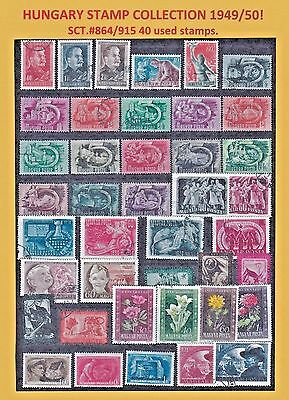 Hungary Sct#. 864/915 1949/50 40 Stamps. 148