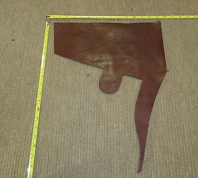BROWN VEG TAN BUTT LEATHER  OFF CUT 6 mm THICK EX KINGS TROOP SADDLE LEATHER