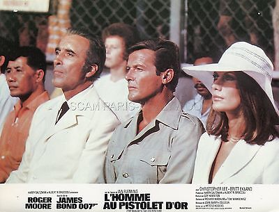 Roger Moore  Christopher Lee  The Man With The Golden Gun 1974 Lobby Card #1
