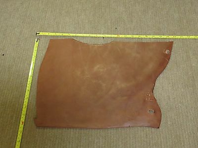 BROWN VEG TAN BUTT LEATHER  OFF CUT 6-7 mm THICK EX KINGS TROOP SADDLE LEATHER