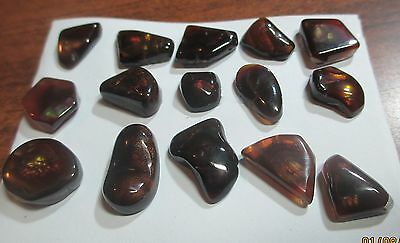 Natural Free form MEXICAN Fire Agate Tumbled  Multicolored SUPER BUY LOT OF 15