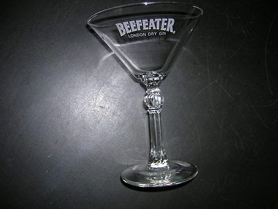 "6"" Tall ""beefeater"" Logo London Dry Gin  Martini Glass.....pristine"