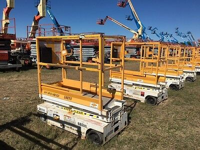 Hy-Brid Hb1030 Scissor Lift 10' Deck Hgt,16' Work Hgt , Fully Operational  Hd
