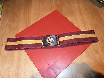 "Royal Regiment of Fusiliers Stable Belt Size 36""Max"