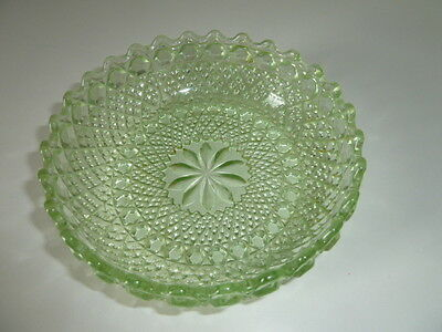 Small Vintage Green Patterned Dish,16Cm Dia/5Cm Tall