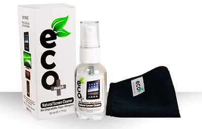 EcoMoist Natural Screen Cleaner 50ml with Fine Microfiber Towel Kit -No Chemical