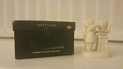Dept. 56 Snowbabies MOMMY'S LITTLE HELPER 2003 69378 Retired with box