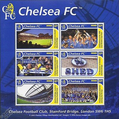 CHELSEA Football Club Stamp Sheet (Stamford Bridge/The Shed/Cup Winners)