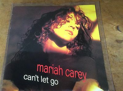 """Mariah Carey - Can't Let Go /To Be Around You - Rare Dutch 1991 7"""" Vinyl Single."""