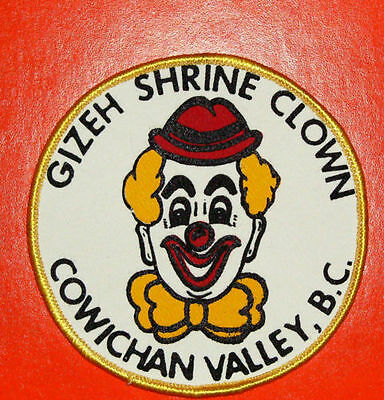 Rare GIZEH SHRINE CLOWN PATCH - COWICHAN VALLEY, BC