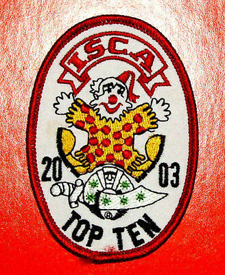 Rare International Shrine Clown Association (ISCA) Top Ten 2003 Patch