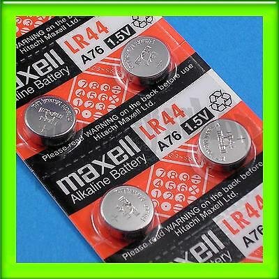 4 Pieces of Maxell LR44 A76 Alkaline Coin Button Battery 0% Hg Long Expire Date