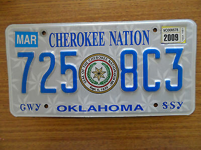 Oklahoma Cherokee Nation Indian license plate