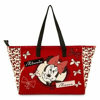 Disney Store Minnie Mouse Tote Bag With Zipper