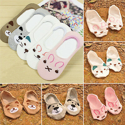 COOL 1 Pairs Womens Cute Non-Slip Boat Loafer Cotton Invisible Low Cut New Socks