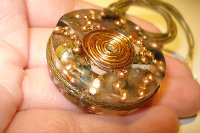 38mm  REAL  ORGONE   ENERGY  PENDANT  CRYSTAL  HEALING    NECKLACE