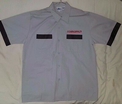 WOW SUPER RARE Hollywood Tower of Terror Hotel Bowling Shirt NEW & NEVER USED L