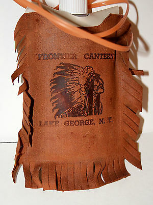 Vtg Toy Frontier Canteen Carnival Prize Lake George NY NOS New 1960-70s Leather?