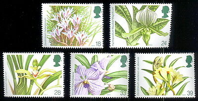 Great Britain 1993 Orchids #1493-1497 SG #1660-1663 MNH