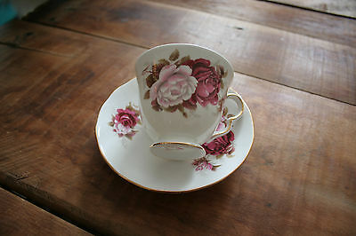 vintage bone china royal vale made in england tea cup and saucer