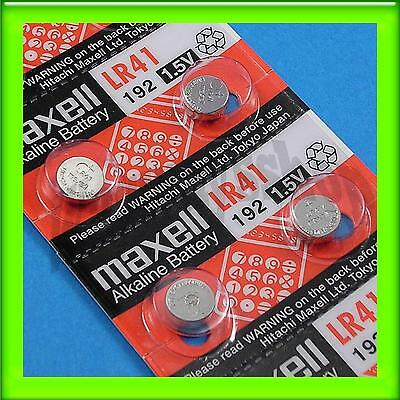 10 Pieces of Maxell LR41 192 Alkaline Coin Button Battery 0% Hg Long Expire Date